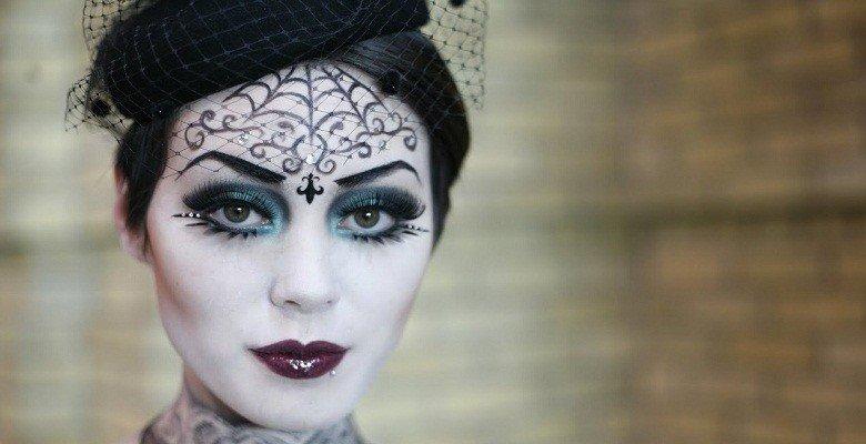 Свадебный макияж невесты в стиле готики