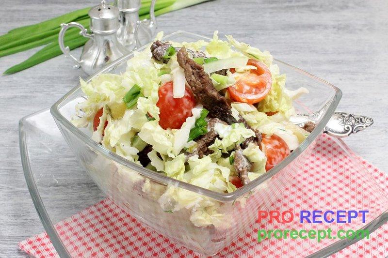 Рецепты салатов с говядиной фото