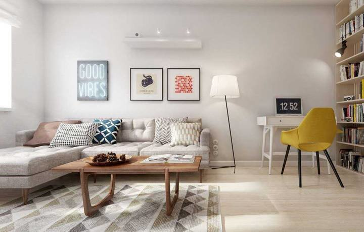 Задуматься об оформлении интерьера в скандинавском стиле следует, если окна квартиры маленькие и выходят на север. В этом случае освещенность помещения можно повысить с помощью светлой цветовой гаммы, отказа от плотных занавесок и сведения к минимуму предметов обстановки.  Уюта комнате, лишенной света, придадут теплые оттенки дерева, из которого изготовлены отделочные материалы и мебель.
