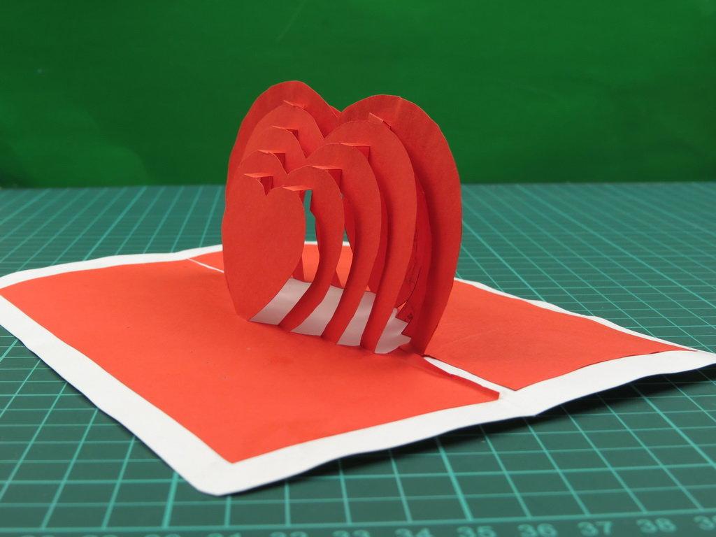 наших широтах как сделать объемную открытку сердце она