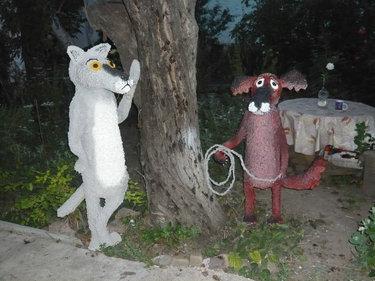садовые скульптуры из монтажной пены
