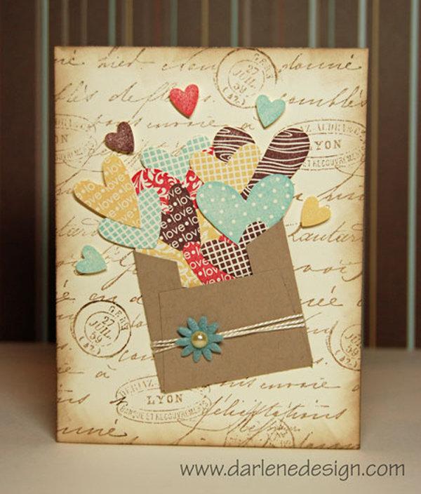 Желаем счастья, открытки хенд мейд с днем рождения красивые