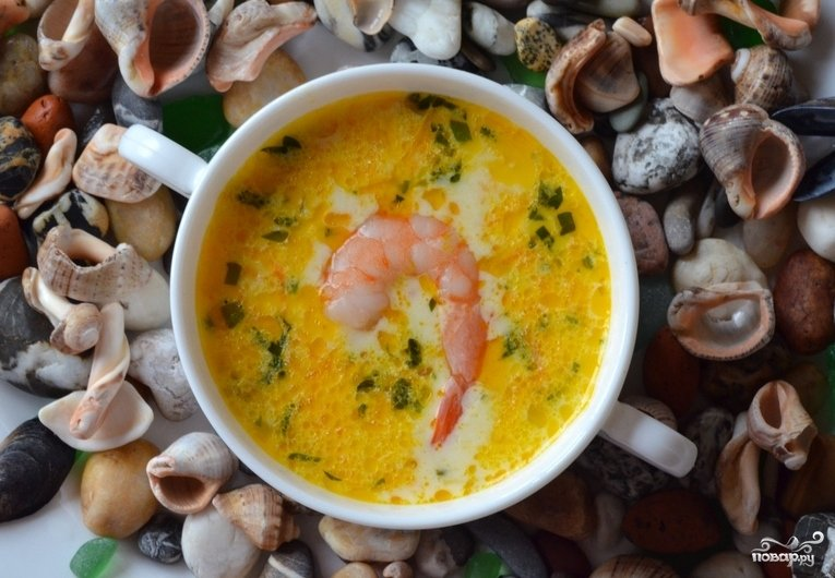Сырный суп с морепродуктами рецепт с фото