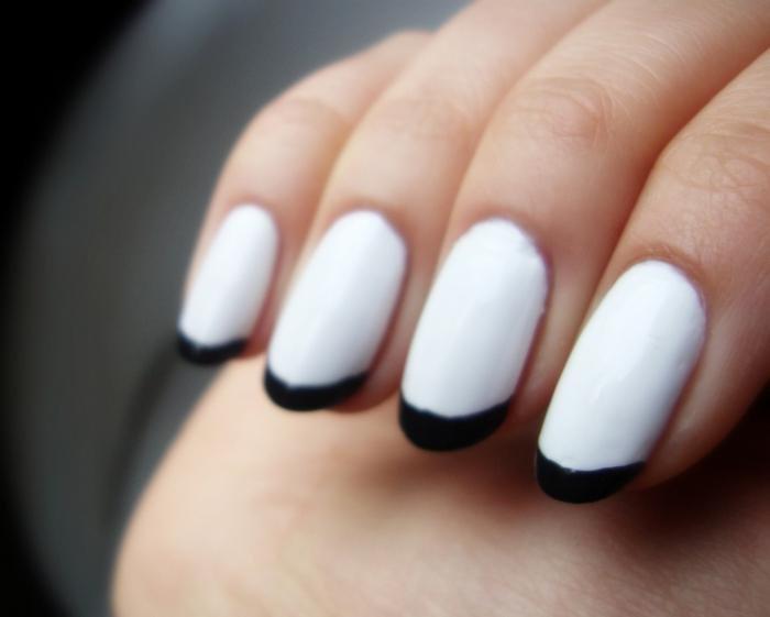 френч бело черный фото