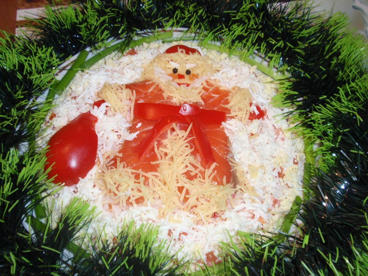 девушки как украсить салаты на новый год фото больше всего фанатам