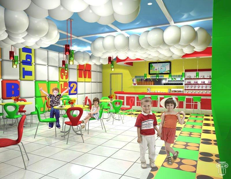 Дипломная работа Елены Куренко Детское кафе создано в едином  Дипломная работа Елены Куренко Детское кафе создано в едином стиле с использованием ярких цветофактурных