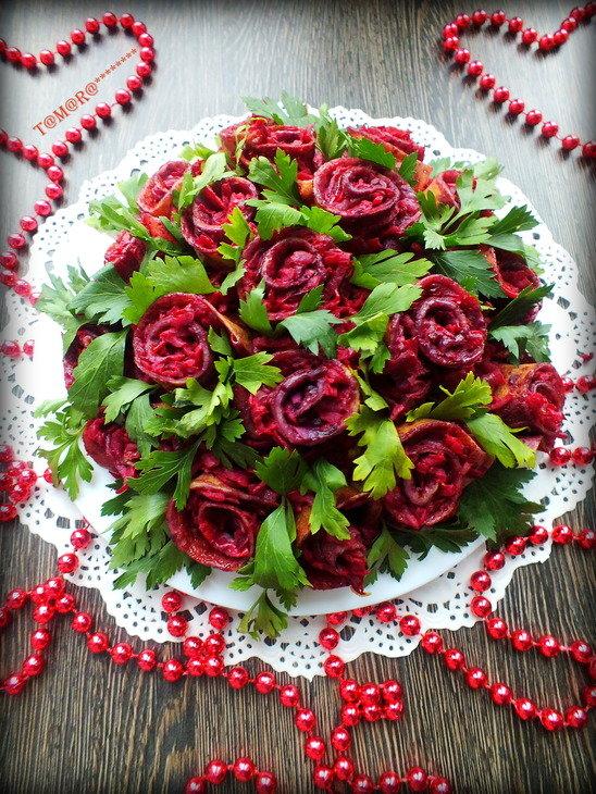 Рецепты салатов с фотографиями букет роз