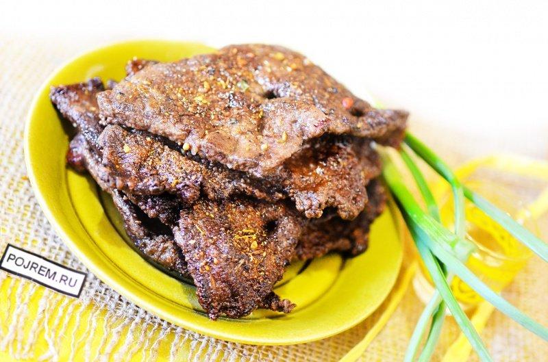печень говяжья рецепты со сметаной с фото