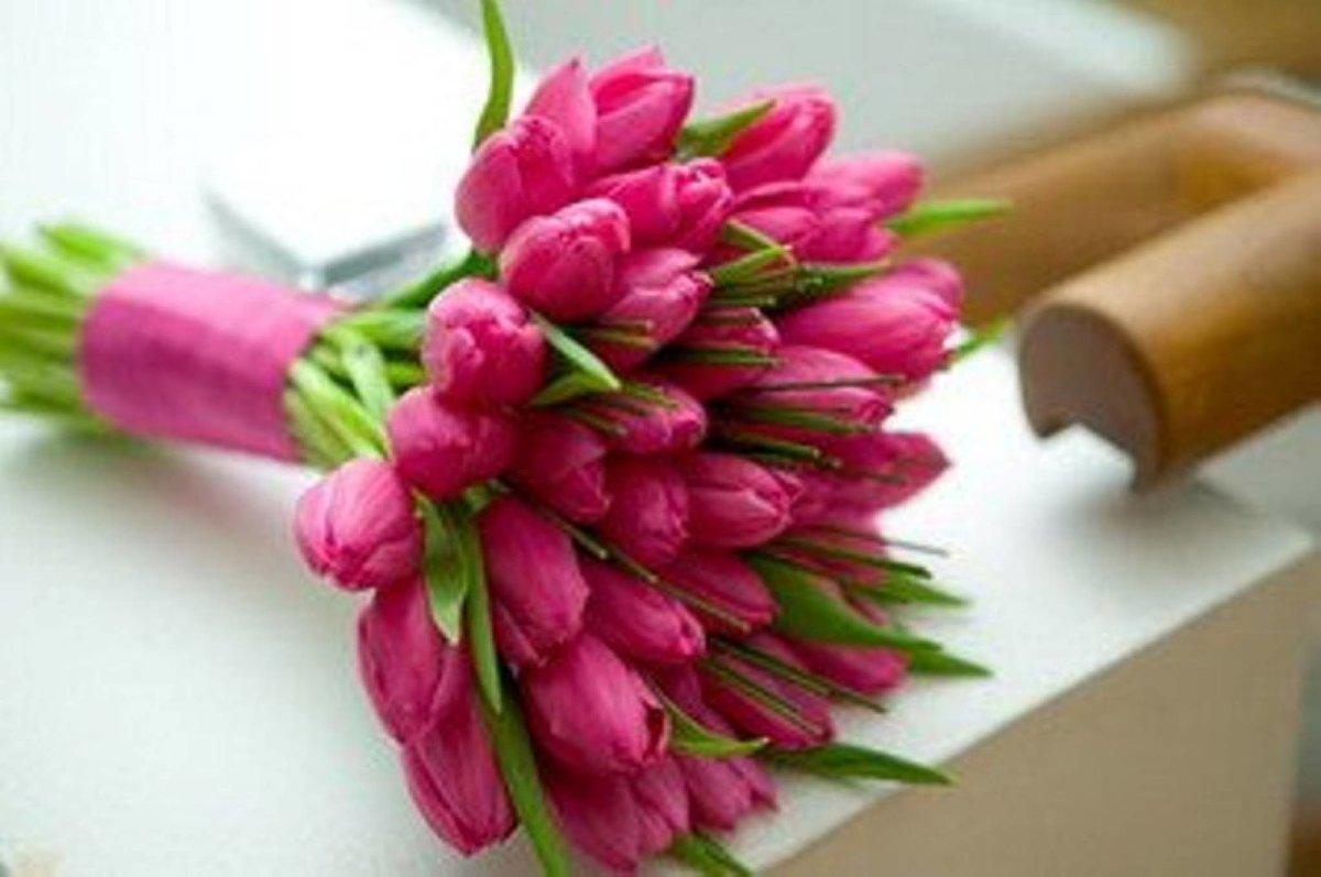 Цветов, интересные букет из тюльпанов своими руками