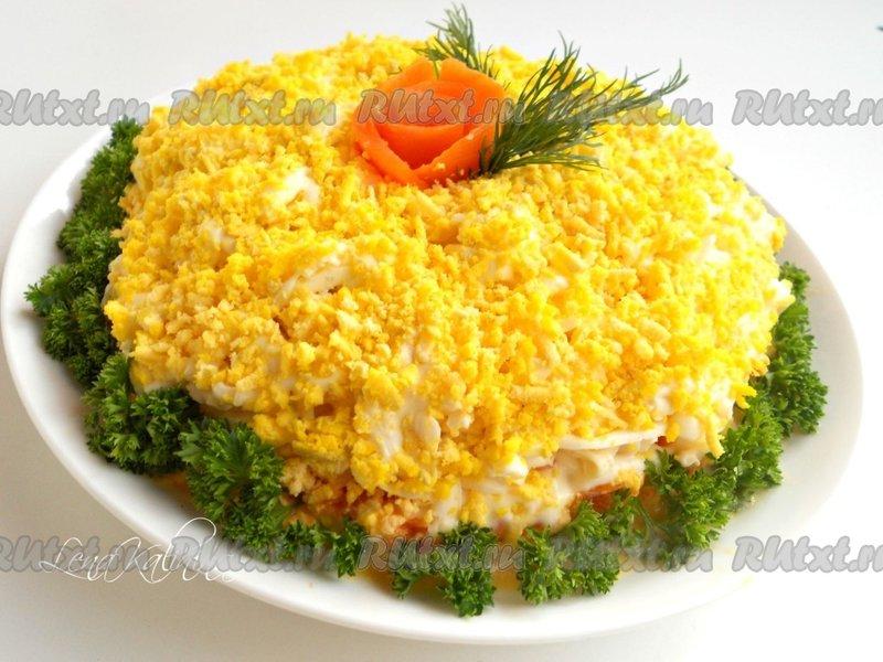 салаты мимоза рецепты с плавленным сыром фото