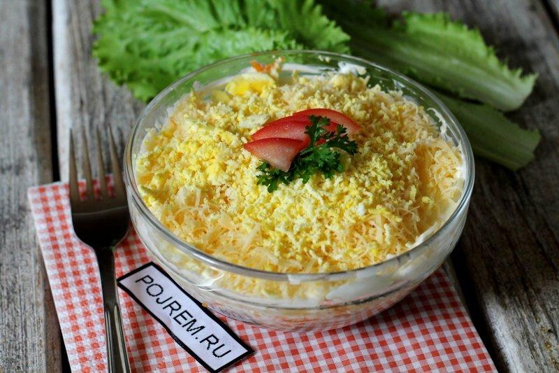 Салат мимоза морковью рецепт с фото