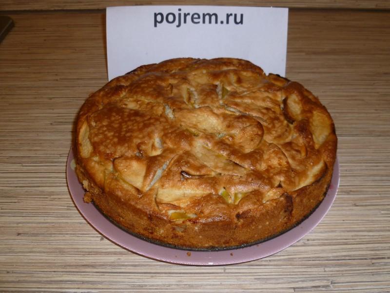 рецепт с фото шарлотки с яблоками простой