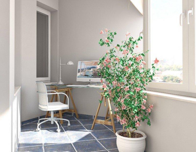 Сейчас многие дизайнеры работая с малогабаритными объектами, обязательно продумывают свой проект таким образом, чтобы использовать площадь балкона или лоджии самым выгодным образом, преобразовывая балкон под кабинет.