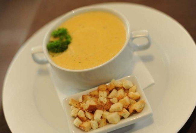 суп-пюре куриный с сыром и гренками слово можно ввести