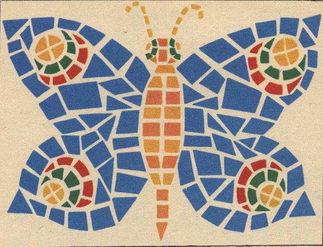 Мозаика из бумаги картинки 1 класс, для раскрашивания днем