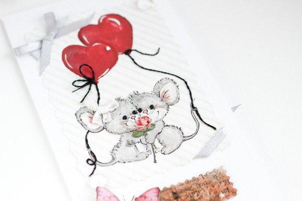 Маме, открытка мышки на валентина