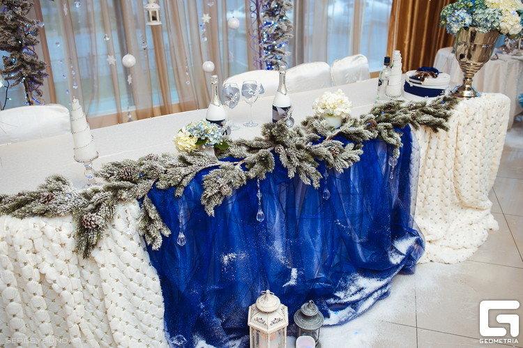 Украшение зимней свадьбы