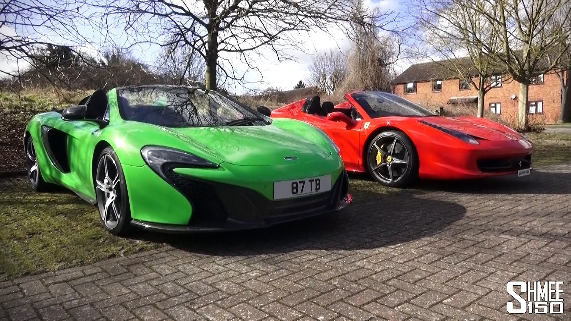 spiders inside-out: mclaren 650s and ferrari 458 - youtube spiders