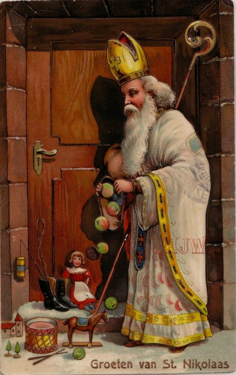 Дед мороз германия открытка