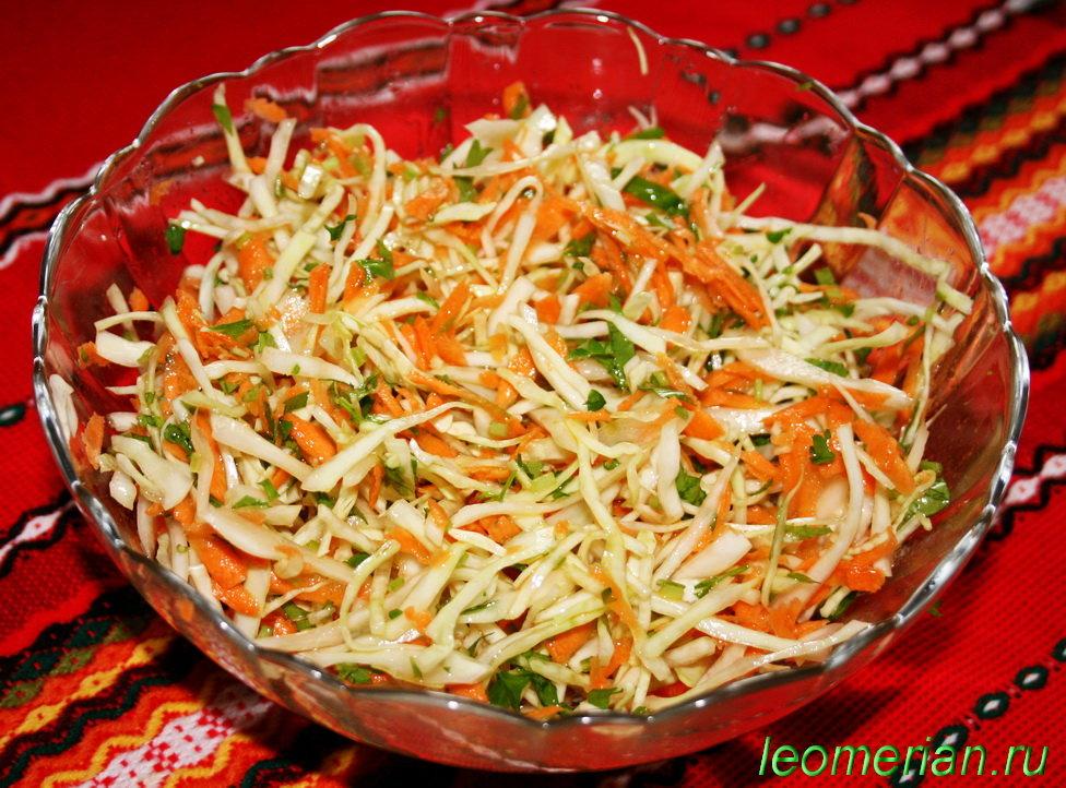салаты рецепты с капустой белокочанной
