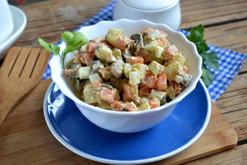 Вегетарианские рецепты с фото салаты