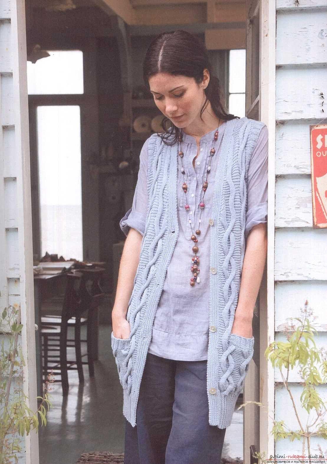 Схема вязания женской жилетки фото 120