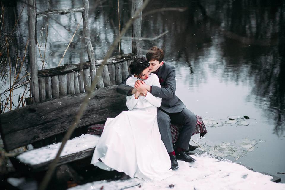 зимняя фотосессия на озере потолок вагонки подойдёт