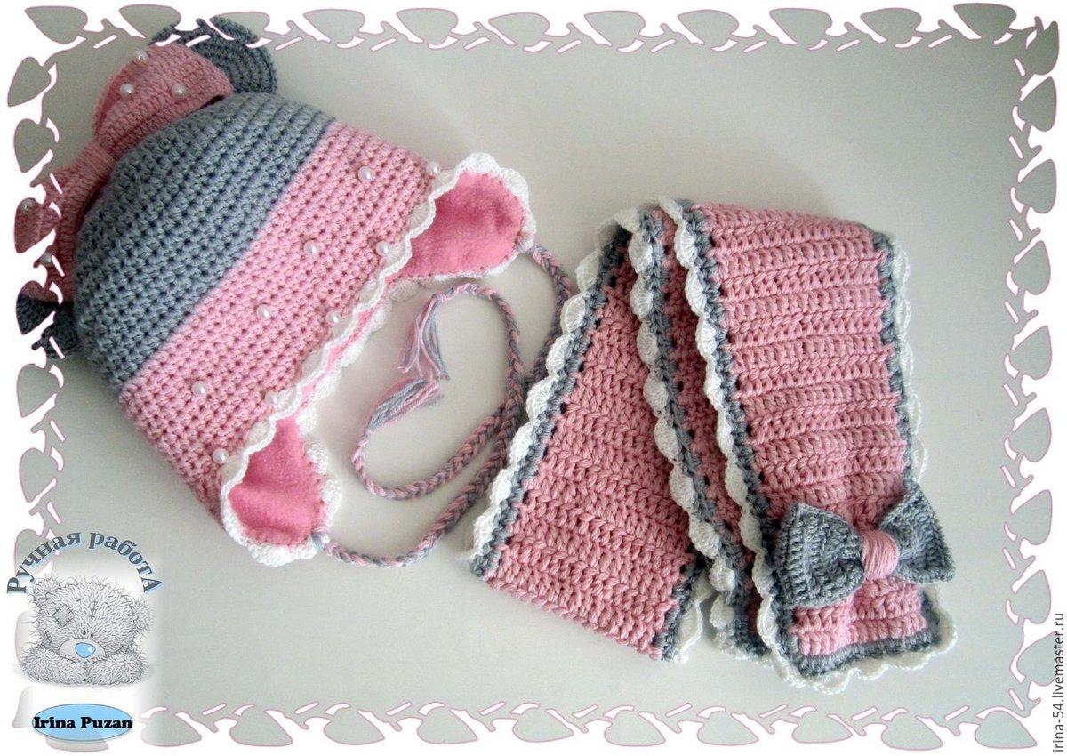 познакомитесь подробным шапочка и шарфик спицами для девочки 8-10 лет подходящего