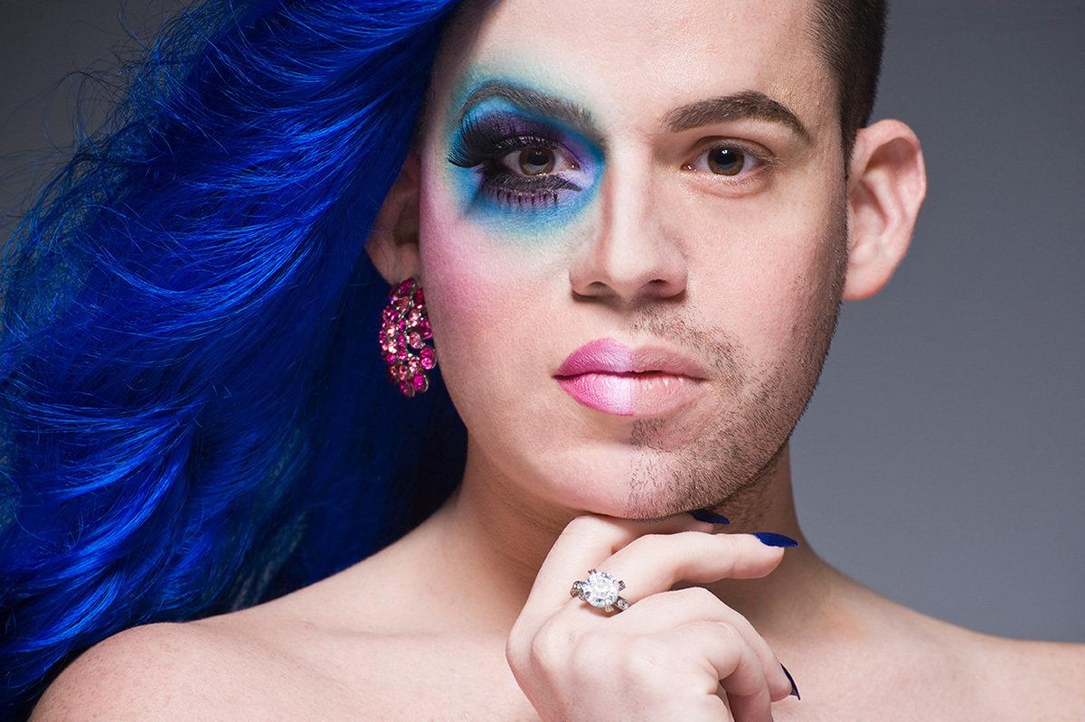 Яркий макияж трансвеститов фото
