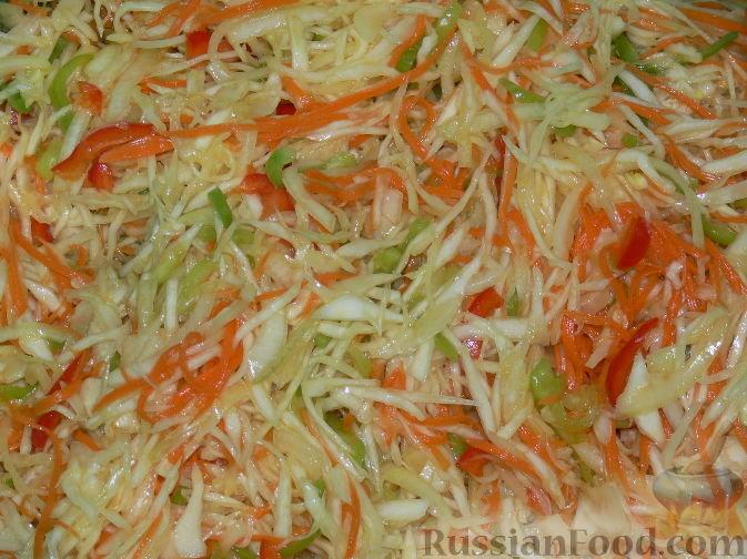 салат витаминный из капусты на зиму