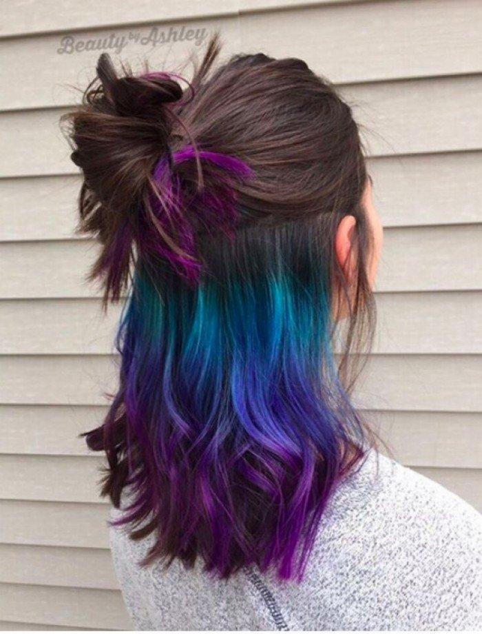Креативное окрашивание волос длинных длины фото