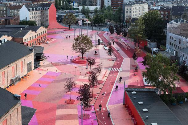 Парк в Нёрребро архитекторов BIG - вид сбоку