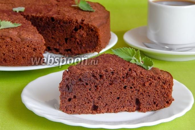 Простой шоколадный пирог рецепт с фото пошагово