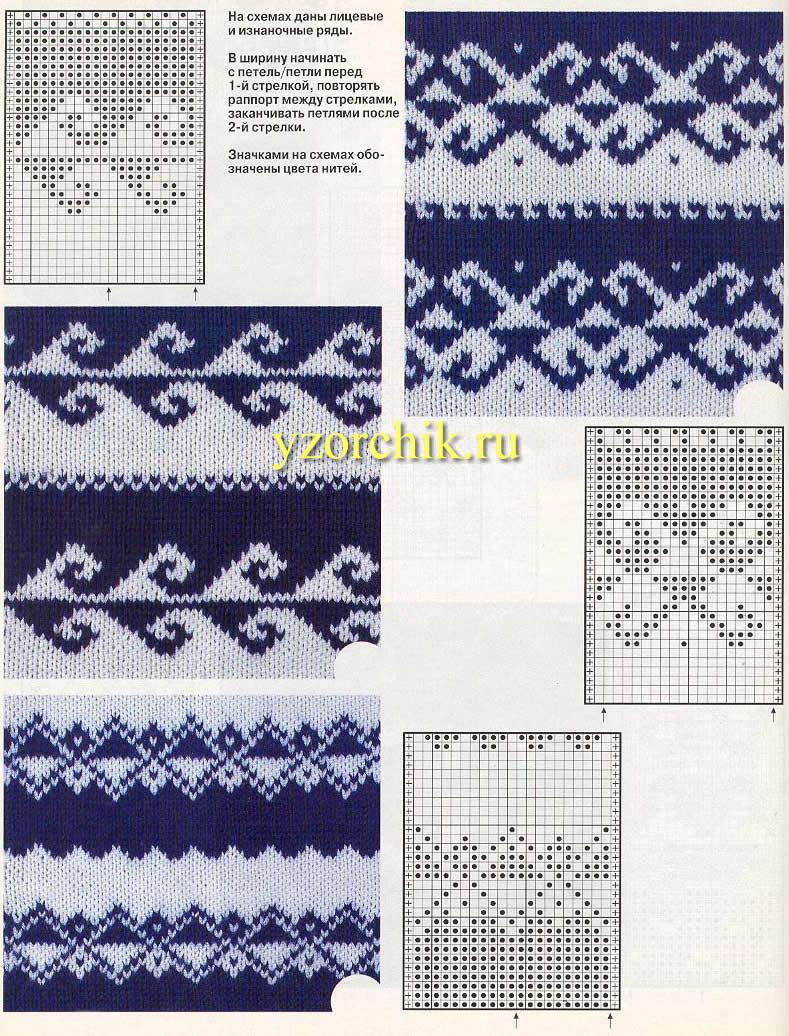 Орнаменты и узоры для вязания