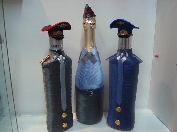 Как оформить бутылку коньяка в подарок для мужчины 77