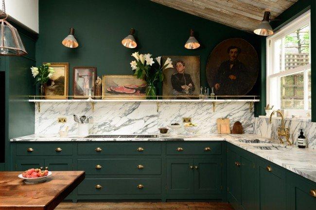 Дизайн кухни зеленого цвета - это один из самых выигрышнх вариантов оформления.