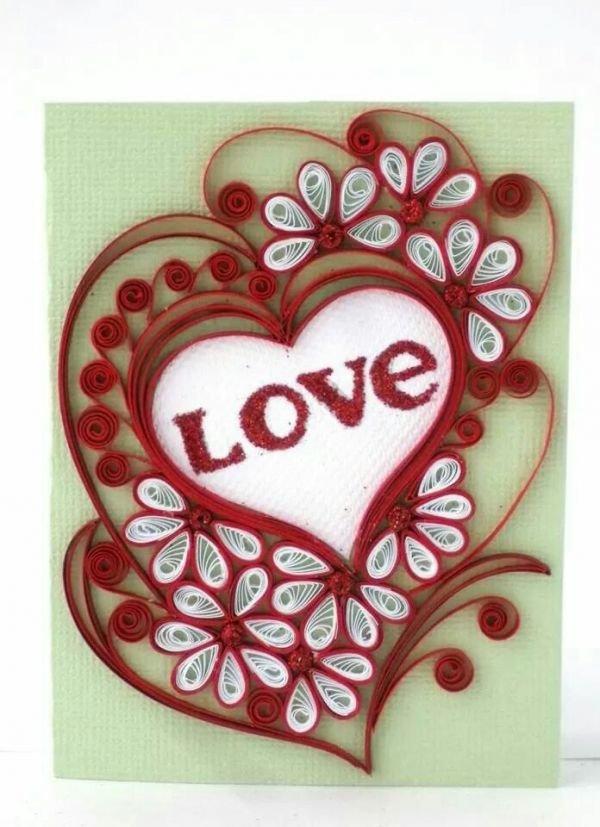 Открытки квиллинг к дню валентина, прапорщика открытки