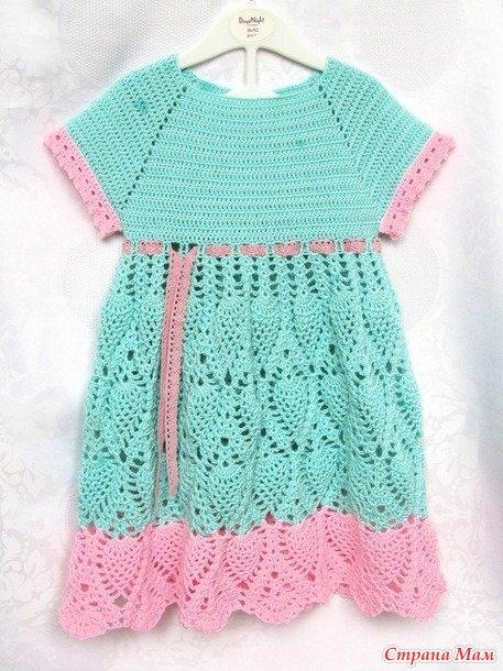 Модница платье крючком