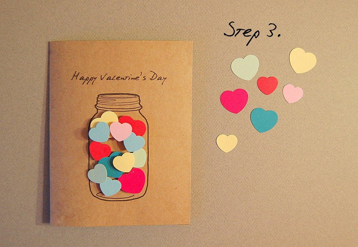 Самодельная открытка на день святого валентина, открытка какие