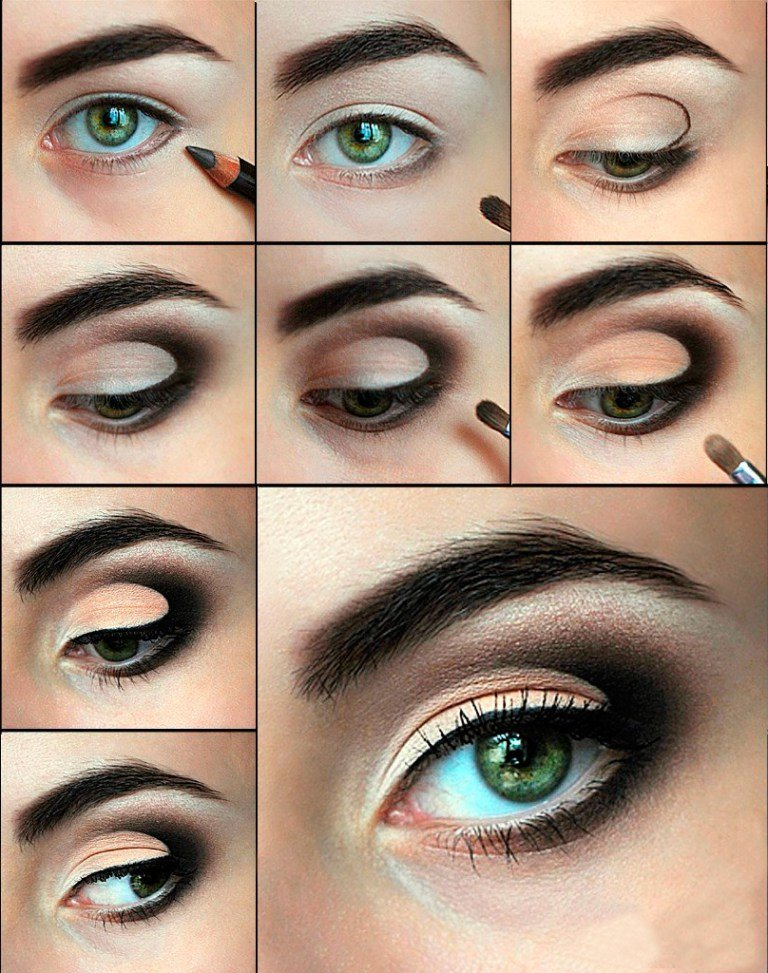 Дневной макияж для зеленых глаз с пошаговым 53