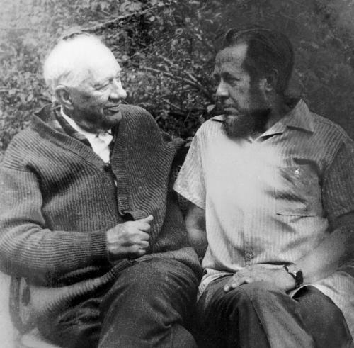 Чуковский и Солженицын в Переделкино