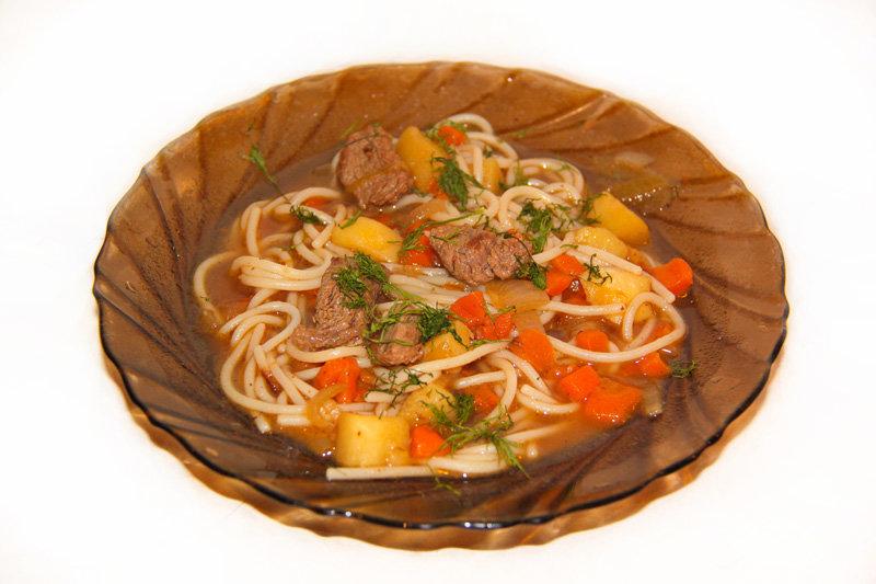 Спагетти гнезда с фаршем на сковороде рецепт