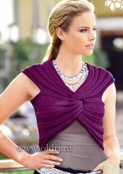 Болеро шарф спицами схемы 43