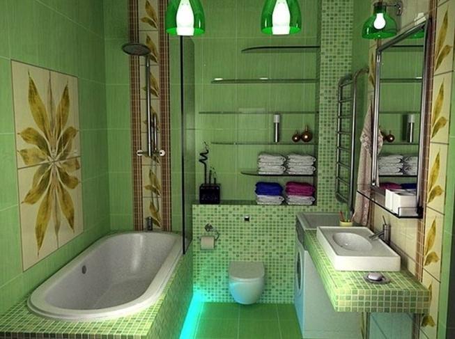 Ванная комната фото салатовый цвет