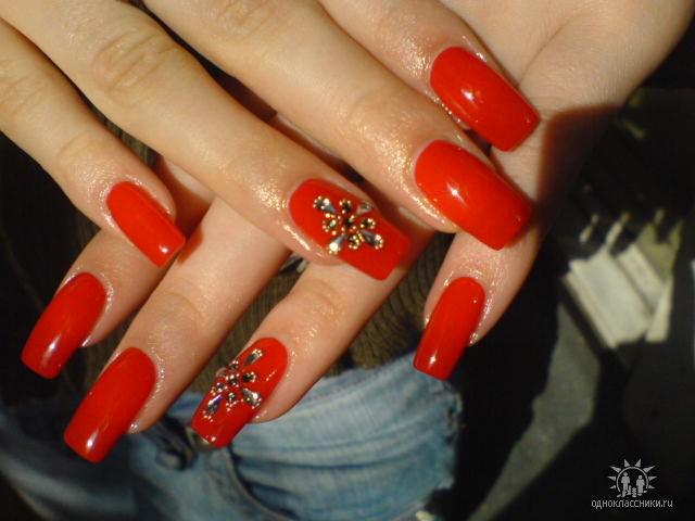 дизайн ногтей с красным цветом 5