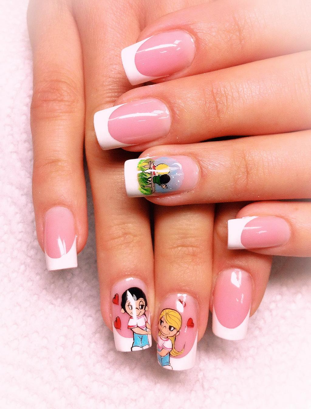 Ногти Светлые Тона С Рисунком