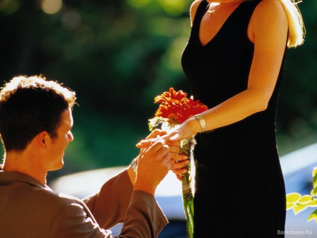 Открыткой для, открытка мужчина на коленях перед женщиной