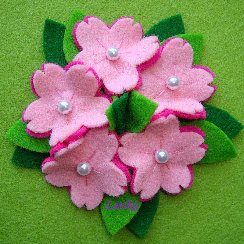 Открытка из фетра цветы