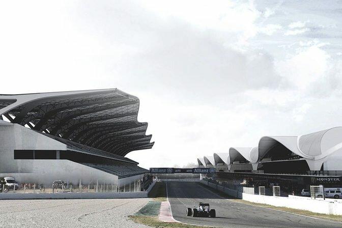 Еще одно детище будущего - трасса для Формулы 1