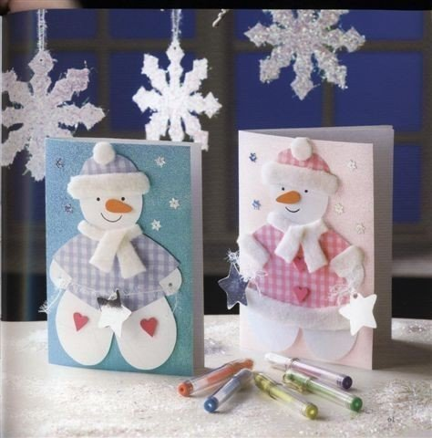 Открытки снеговиков своими руками, днем учителя